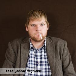 Het etalageblokje voor het interview met Jeroen Besseling, van Het Brein Dat Kwam Uit De Ruimte. De foto is genomen door Jorinde Reijnierse.