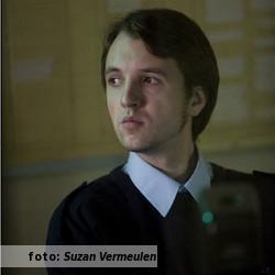 Het etalageblokje voor het interview met Vincent Twigt, de foto is van de hand van Suzan Vermeulen.