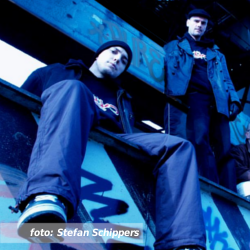 Etalageblokje De platenkast van Def P en DJ Daan van Def P & The Beatbusters, Bl3nder, Osdorp Posse. Fotografie door Stefan Schippers.